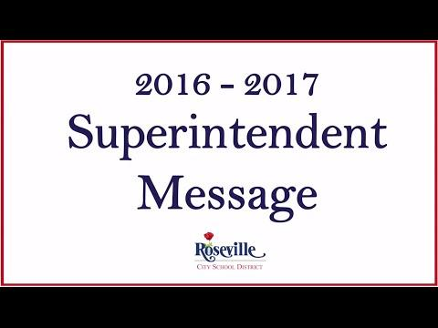 Superintendent Message for 2016 – 2017